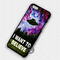 X-Files On Galaxy Quote - iPhone 7 Plus 6 SE Cases & Covers