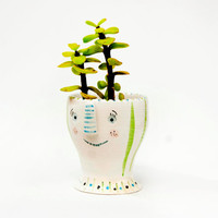 Ceramic planter / Plant pot / Succulent planter / Ceramic planter with face / Succulent pots / Ceramics and pottery / Plant holder / Viruset