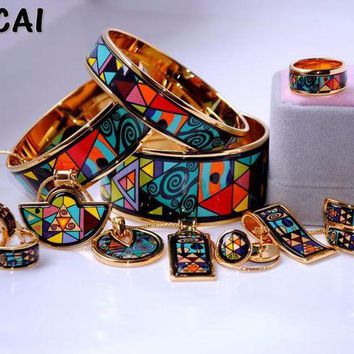 DCCKFS2 Cloisonne enamel jewelry European and American style 4pcs sets