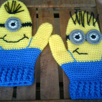 Adult; Kids; Baby Despicable Me Minion Mittens Gloves