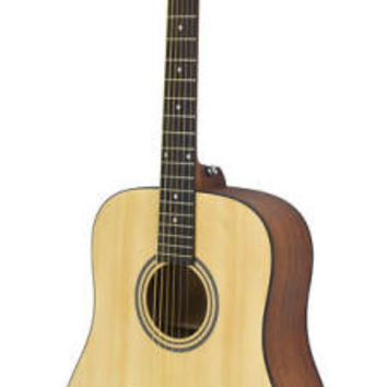 Hohner A+ Dreadnought Steel String Acoustic Guitar w/Gig Bag, Natural AS305NS