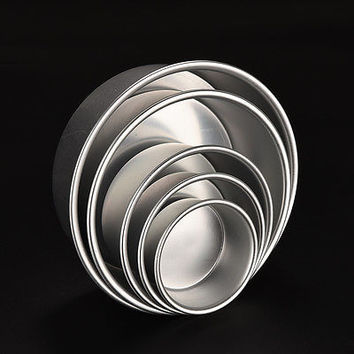 Round Aluminum Baking Tin Pan Mold Mould for Sandwich Cake Kitchen DIY 5 Size LS