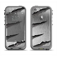 The Clawed Metal Sheet Apple iPhone 5c LifeProof Fre Case Skin Set