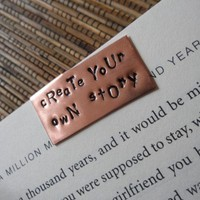 $12.00 Create your own story hand stamped copper by SnappinStudio on Etsy