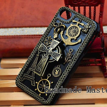 Steampunk Retro Gothic Style iPhone 5 4s 4 Case by HandmadeMaster