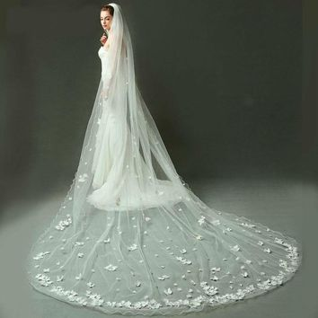 Long Bridal Veils Wedding Veils Flower and Butterfly Decorations Wedding Accessories