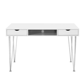 Accent Computer Desk - Grey / White