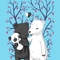 """Bear Family"" - Art Print by Indré Bankauskaité"