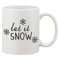 Cute Snowflakes Winter Coffee Mug - Let It Snow (JMC006)
