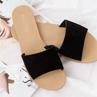 Crete Suede Flats - Black - Shoes by Sabo Skirt