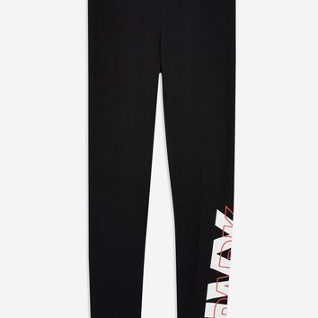 Layer Logo Ankle Leggings by Ivy Park - Ivy Park - Clothing