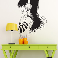Vinyl Wall Decal Sticker Music Listener #OS_DC792