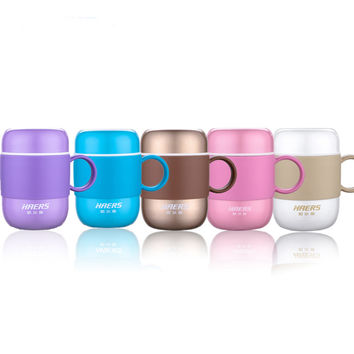 HAERS 280ML Candy Color Coffee Thermos LBG-280-11