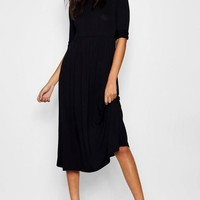 Mia Long Sleeve Midi Dress | Boohoo