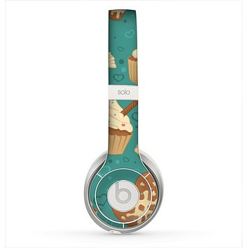 The Teal and Brown Dessert iCons Skin for the Beats by Dre Solo 2 Headphones