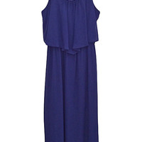 Chiffon Flounce Maxi Dress
