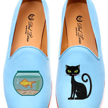 Cat And Fishbowl Loafer by Del Toro for Preorder on Moda Operandi
