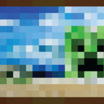Minecraft Creeper Window Video Game Poster