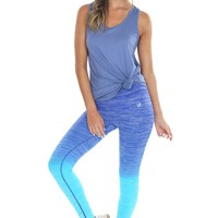 Ombré Leggings Blue