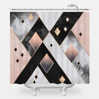 Art Deco Diamonds Shower Curtain