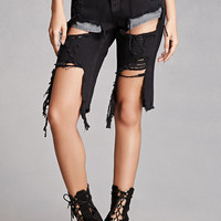 Distressed Capri Shorts