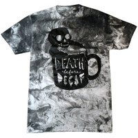 Death Before Decaf Marble Shirt