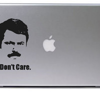 Ron Swanson Decal / Macbook Decal / Macbook Sticker / Laptop Decal / Laptop Sticker / Ron Swanson