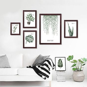 Nordic Decoration Wall Pictures For Living Room Cuadros Green Forest Wall Art Canvas Painting Posters And Prints No Poster Frame