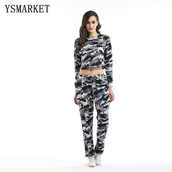 YSMARKET Women Camouflage Fitness T-Shirt Women Long Sleeve Running Shirt Sport Clothes Ladies Yoga  Outdoor Fitness Tops  A0183