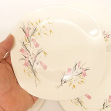 Plate, Small, Bread and Butter, Side, Pink Harebell, Midwinter, Stylecraft, Fashion Shape, Staffordshire, England