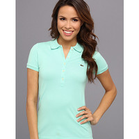 Lacoste S/S 5 Button Stretch Pique Polo Cucumber Green - Zappos.com Free Shipping BOTH Ways