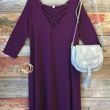 Fall Fun Dress: Plum