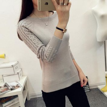 Autumn Winter Knitted Sweater Long Sleeve Pullover