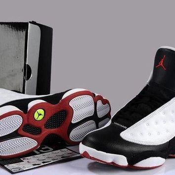 Air Jordan 13 Retro AJ13 XIII 309259 104 White/Black Men Basketball Shoes Size US 7-12
