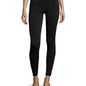Textured Panel Leggings, Size:
