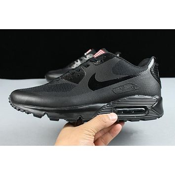 Nike Air Max 90 Flag Triple Black Men Running Sneaker