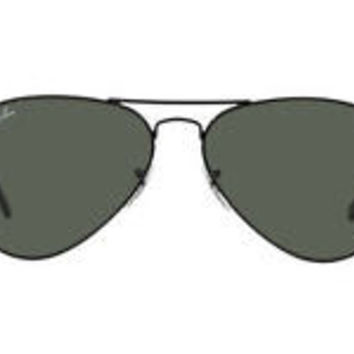 NEW SUNGLASSES RAY-BAN  AVIATOR  58  MEDIUM RB3025 in Black