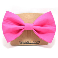 Dark Pink Hair Bow Barrette