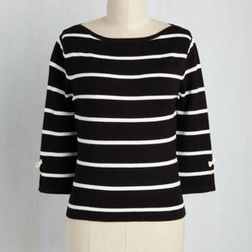 Up to Parisienne Sweater in Striped Black | Mod Retro Vintage Sweaters | ModCloth.com