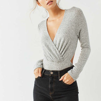 Out From Under Cozy Open Back Bodysuit   Urban Outfitters