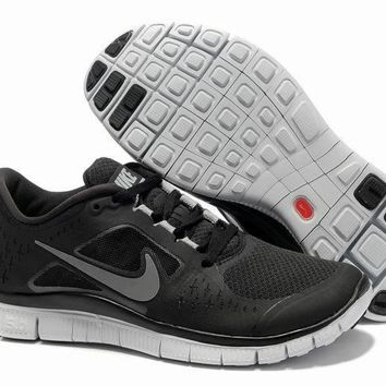 Women s Nike Free 5.0 V3 Shoes Black Silver 798b13f63
