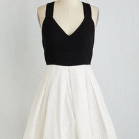 Mid-length Sleeveless Twofer Lindy Hop to It Dress