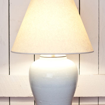 Blanc de Chine Lidded Jar Lamp