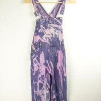 Bleached and Dyed Long Dungarees | S