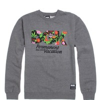 DGK Aloha Crew Fleece - Mens Hoodie - E. Heather Grey