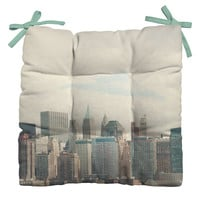 Catherine McDonald Lower Manhattan NYC Outdoor Seat Cushion