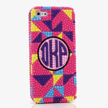 Multi-Color Abstract Personalized Monogram Design (style MO_2016)