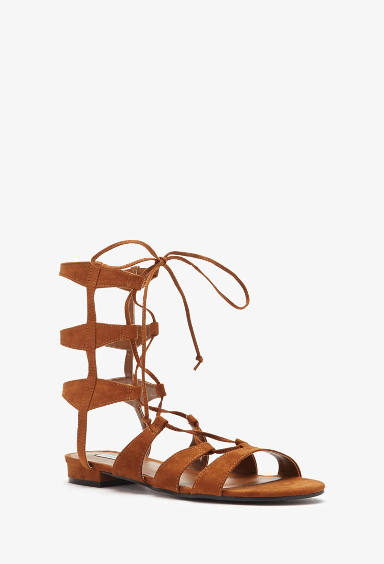 16b5553a84dc Faux Suede Gladiator Sandals from Forever 21