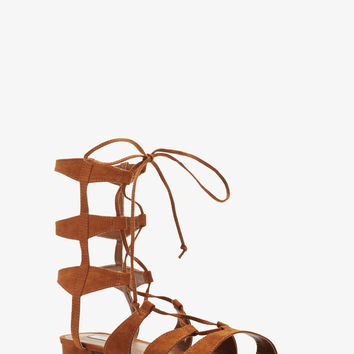 Faux Suede Gladiator Sandals from Forever 21 0da97661fef3