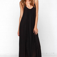 Sun Sign Black Maxi Dress